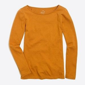 J. Crew Factory Long-Sleeve Artist T-shirt